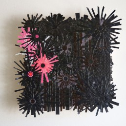 Black Love - 2009 | Paper and acrylic on wood | 15 x 15 in