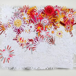 Fluourescences - 2009 | Found paper, plastic, and acrylic on wood | 14 x 17 in | Private Collection, Washington, D.C.