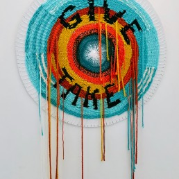 Give and Take - 2019 | Acrylic, Wool, Wood | 36 in