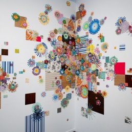 Cosmic Country - 2011 | Found paper and acrylic | Santa Barbara Contemporary Arts Forum