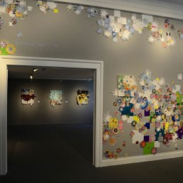 Kaleidoscopic Gaze - 2013 | Found paper and acrylic | Dimensions vary | Carnegie Art Museum, Oxnard, CA